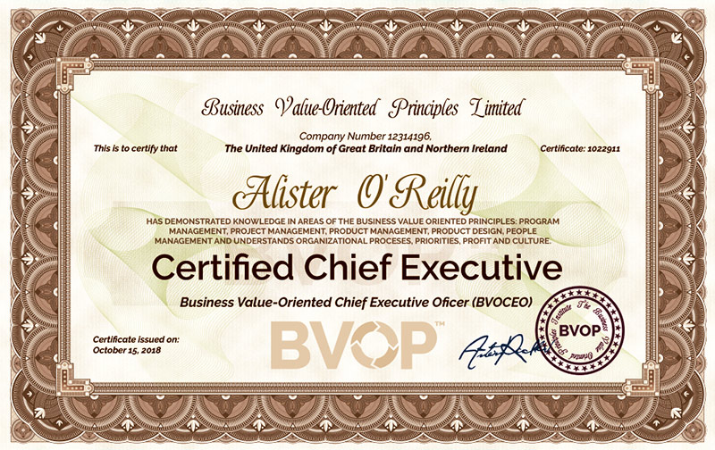 Chief Executive certification | Certified CEO program