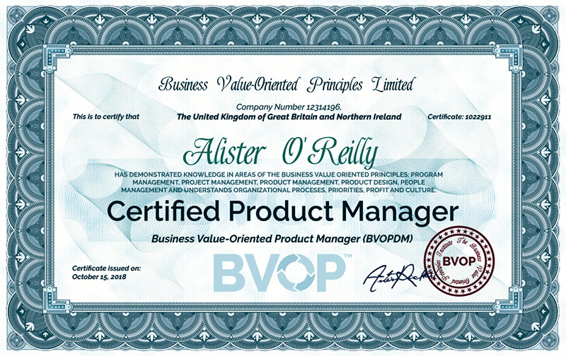 Product Manager Certificate