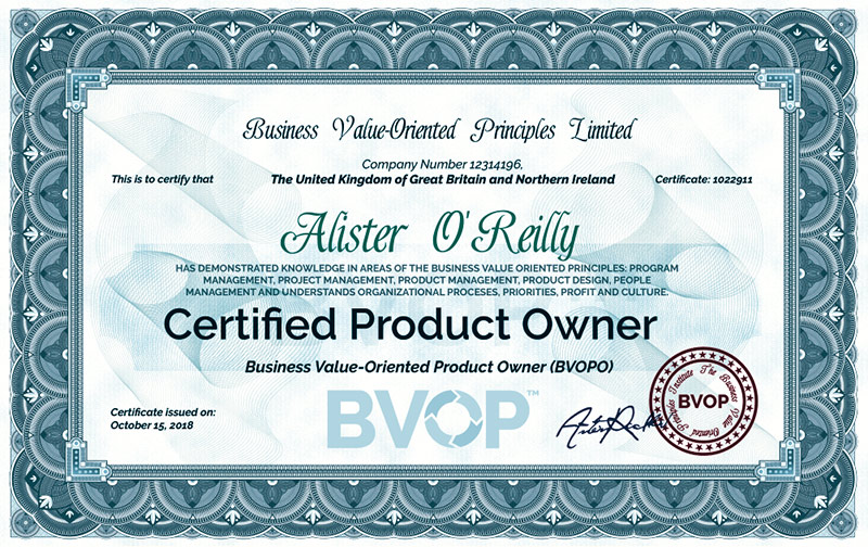 Product Owner Certificate