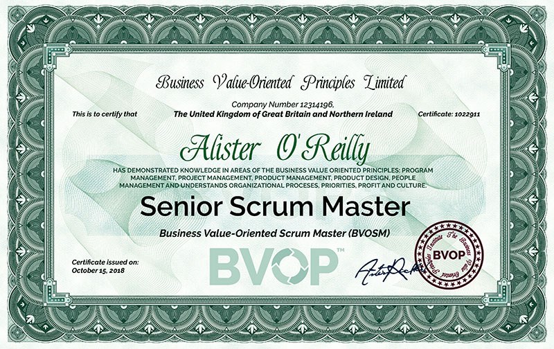 Agile Scrum Master Certification